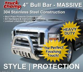 Huge 4 Stainless Bull Bar Push Grill Guard 2008 2011 FORD F250 F350