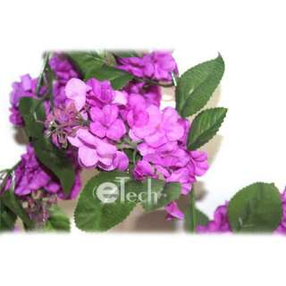 Purple Wisteria Garland Wedding Flowers Silk Flowers