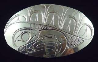 Coast Indian Sterling Silver Eagle Pendant or Pin