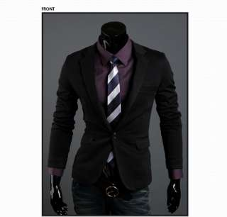 2012 NEW Mens Korean Classic High Quality Slim Cool Style Suit Top