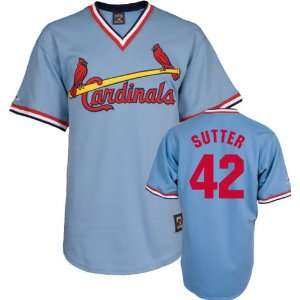 Bruce Sutter Majestic Cooperstown Throwback St. Louis Cardinals Jersey