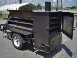 RIB BOX BBQ SMOKER PIT grill on trailer w gas starter