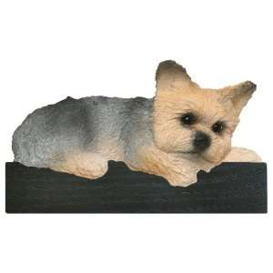 Puppy Cut Yorkie Dog Shelf and Wall Plaque Home & Kitchen