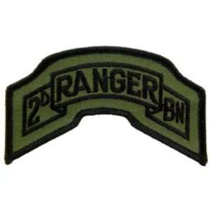 U.S. Army 2nd Battalion Ranger Patch Green 3 5/8 Patio