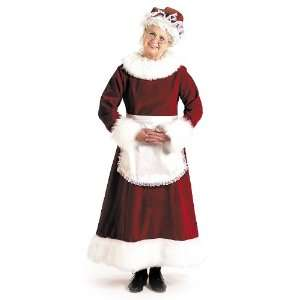 Claus Dress Adult Costume / Red   Size Large (12 14)