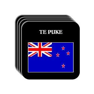 New Zealand   TE PUKE Set of 4 Mini Mousepad Coasters