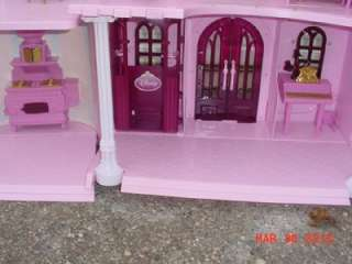 Enchanted Palace Castle Doll House Play Set & Accessories USED