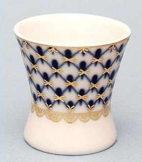 Lomonosov Porcelain Cobalt Net Egg Cup