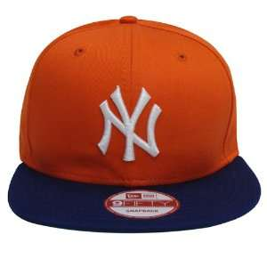 New York Yankees New Era Retro Snapback Cap Hat Orange