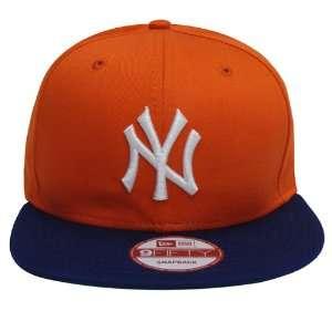 New York Yankees New Era Retro Snapback Cap Hat Orange
