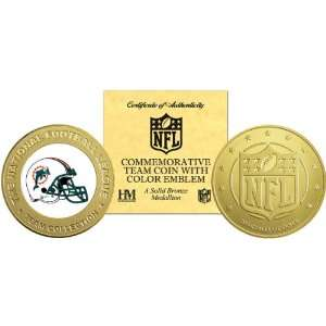 Highland Mint Miami Dolphins Bronze Commemorative Coin