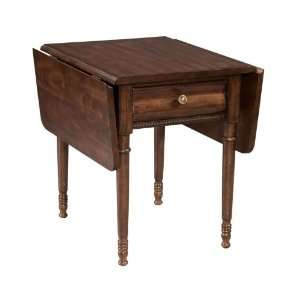Homecoming Vintage Maple Drop Leaf End Table   36 022: Home & Kitchen