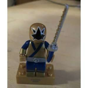 POWER RANGERS SAMURAI   MEGA BLOKS MINI FIGURE (GOLD RANGER