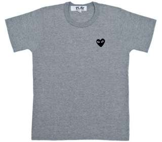 Des Garcons CDG PLAY Classic T shirt Black Heart Red Heart