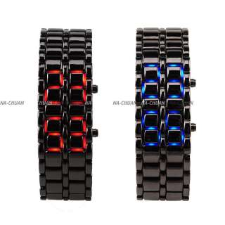 brand new band material stainless steel led color red or blue case