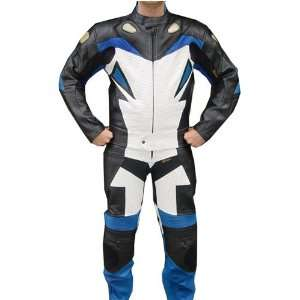 2pc Motorcycle Suit With Kevlar Paddings Thick Leather , l