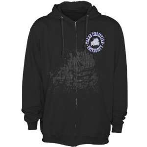 Frogs (TCU) Black Zippity Full Zip Hoody Sweatshirt