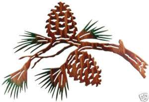 LAZART PINE CONE METAL ART WALL HANGING MADE IN USA