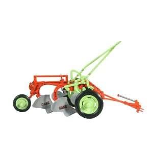 Orange/Light Green 1/16 Scale Case Centennial Plow on Rubber Wheel