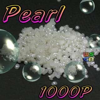 1000 Pearl 1.5mm Nail Art Decoration Design Round
