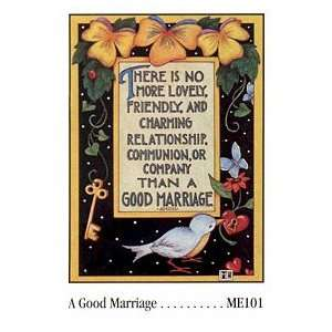 A Good Marriage Plack Frame Arts, Crafts & Sewing