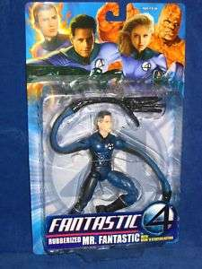 TOY BIZ MARVEL FANTASTIC 4   RUBBERIZED MR. FANTASTIC