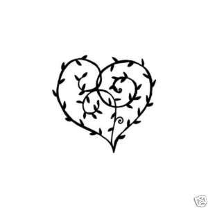 Penny Black amor Rubber stamp Valentines heart