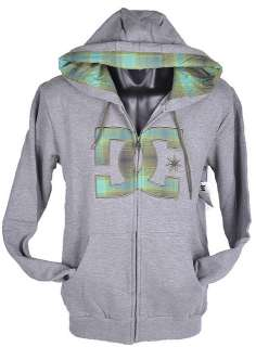 DC shoes mens zip hoodie jacket jumper Grey