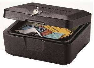 500 FIRE SAFE Box, 0.15 Cubic Feet, Black Key Lock For Privacy NEW