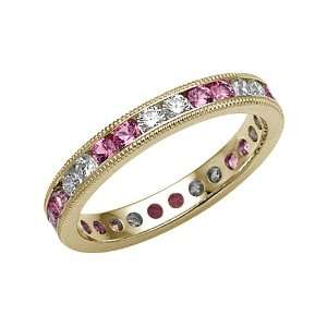 1.25 cttw Karina B(tm) Pink Sapphire Eternity Band With