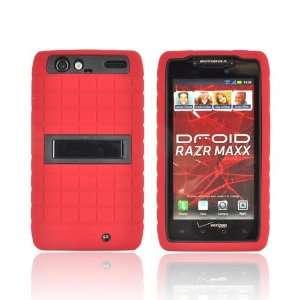 For Motorola Droid RAZR MAXX Black Red Dual Layer Hard