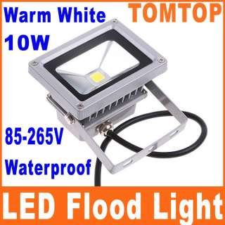 10W Warm White LED Flood Wash Light Lamp Outdoor Waterproof 85 265V
