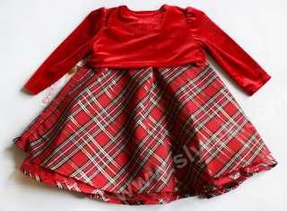 Dress Baby Toddler Birthday Flower Girl NEW Holiday Xmas Short Sleeve