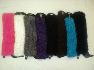 PAIRS WOMENS WARM & SOFT COZY FUZZY LEG WARMERS