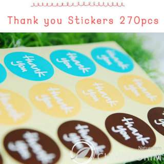 Packing Materials   Thank you stickers(circle) 270PCS