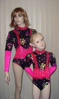 OUTRAGEOUS PINK Leotard Gymnastics Dance Costume CS