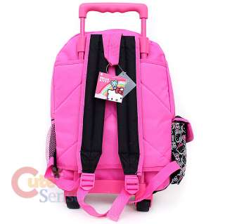Hello Kitty School Roller Backpack Rolling Bag Black Outline 4