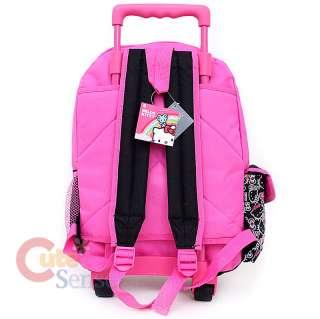 Hello Kitty School Roller Backpack Rolling Bag Black Outline 4