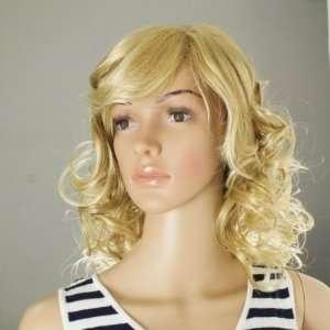 Pale Blonde Wavy Curl Lady Women Wig *100% Kanekalon Top Quality*New