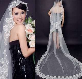 Attractive 5 M Cathedral Wedding Bridal Veil special Long Train (white
