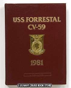 USS FORRESTAL CV 59 MEDITERRANEAN CRUISE BOOK 1981