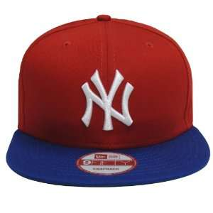 New York Yankees New Era Retro Snapback Cap Hat Red Blue