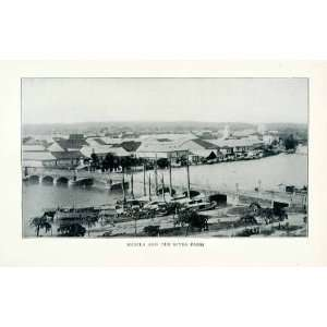 1902 Print Manila Philippines River Pasig Bridge Industry