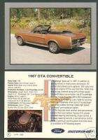 1967 FORD MUSTANG GTA CONVERTIBLE Car Picture Card FPI