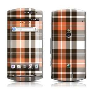 Copper Plaid Design Protective Skin Decal Sticker for Sony