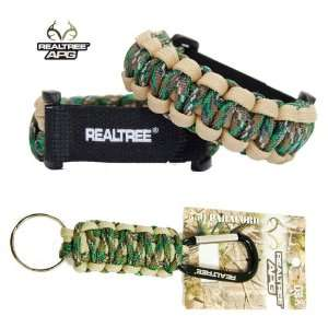 Realtree APG Camo Paracord Bracelet 6.5 7.5 and Keychain