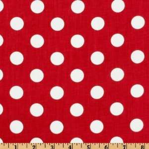 Forever Large Polka Dot Red Fabric By The Yard Arts, Crafts & Sewing