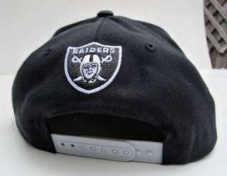Los Angeles Raiders Black Grey Snap Back Cap Hat By Mitchell & Ness