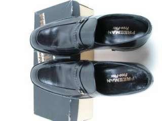 New Black Leather Mens Dress Shoes Loafers FREEMAN Free Flex 10 1/2 B