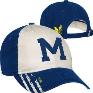 Michigan Wolverines adidas Vault Logo Slouch Adjustable